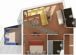 carnival cruise suites floor plan carnival splendor cabins and suites cruisemapper