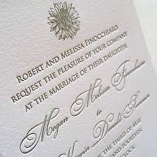 Sunflower Wedding Programs Original Letterpress Wedding Invitations U0026 Stationery Designs
