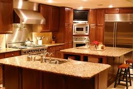 Home Interior Kitchen Design In Home Kitchen Design Of Sqaure Kitchen Island For Luxury