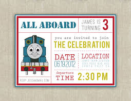 invitations thomas train birthday invitations
