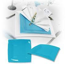 assiette jetable mariage assiette design jetable turquoise 18 cm pas chère pour mariage baptême