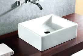 above counter bathroom sink square vessel sinks bathroom sinks the home depot square vessel sink