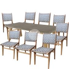 euro italia dining table and parisian chairs walnut package