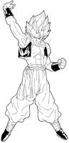 draw gogeta dragon ball easy steps tutorial