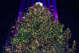 2013 rockefeller center tree lights up the with