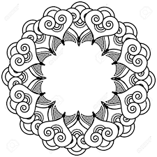 indian henna tattoo inspired flower shape with inner floral star