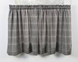 morrison plaid print cotton twill tailored valance window curtain