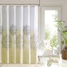 Grey And Yellow Shower Curtains Awesome Fabric Grey And Yellow Shower Curtain Of Grey And