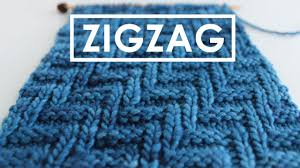 zig zag knitting stitch pattern diagonal chevron zigzag knit stitch pattern youtube