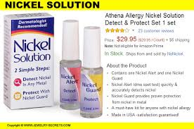 nickel allergy testing the cure for gold nickel allergies jewelry secrets