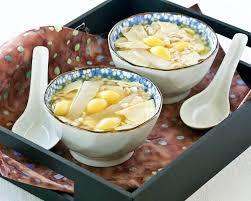 sweet barley and ginkgo nut soup roti n rice