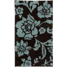 Blue And Brown Bathroom Rugs Extremely Better Homes And Gardens Bath Rugs Relaxing Comfort Mat