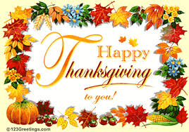 happy thanksgiving to you wishes card