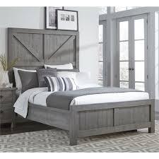 modus austin full barn door panel bed in rustic gray 9x13f4