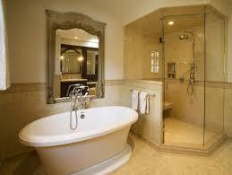Bathroom Slate Tile Ideas by Brown Ceramic Wall Tiles As Bath Wall Decor Simple Master Bathroom