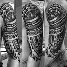 cool polynesian guys half sleeve tribal ideas tattoos
