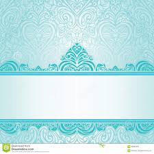 turquoise wedding wedding vintage turquoise invitation design stock illustration