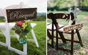 reserved signs for wedding tables creative reserved signs for your wedding ceremony alexan events