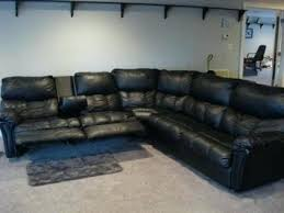 black leather reclining sectional sofa u2013 stjames me