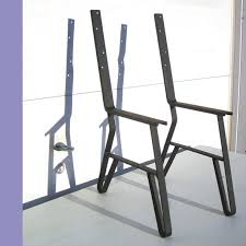 metal leg set for park or garden long wooden bench with back