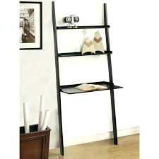 black leaning bookcase leaning desk with shelves minimalist black