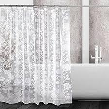 Curtains With Hooks Amazon Com Zisu Peva Shower Curtains Modern Design With Hooks