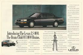 lexus ls400 usa lexus ls 400 automobile original 1990 vintage color print