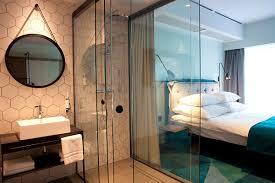 Open Bathroom Bedroom Design by Puro Hotel Poznan Modern Home Design Pinterest Bedrooms