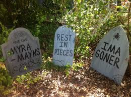 halloween tombstone yard art decorations set of 6 holiday wood