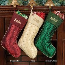 Christmas Stocking Ideas by Elegant Beaded Pintuck Christmas Stockings Christmas Stocking