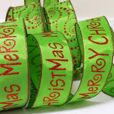 christmas wired ribbon wired christmas ribbon decorations gold from all ribbons and