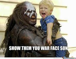 War Face Meme - not sure if war face or scared face by recyclebin meme center
