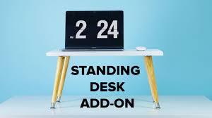 Diy Standing Desk by Diy Standing Desk Add On Youtube
