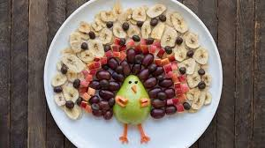 thanksgiving turkey fruit platter beth baumgartner