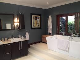 our new u0027blue steel u0027 bathroom walls using plascon double velvet in