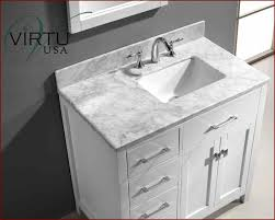 USA  Square Sink Bathroom Vanity Caroline VUMSLWMSQWH - Virtu usa caroline 36 inch single sink bathroom vanity set