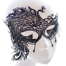 5pcs lot masquerade masks black organza feliz