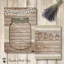 jar wedding invitations jar wedding invitation jar barn wood and lights