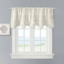 Bed Bath And Beyond Window Valances Harbor House Crystal Beach Scallop Valance In Ivory Bed Bath