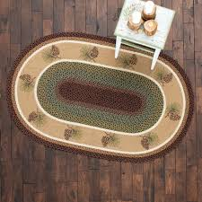 Braided Doormat Rustic Wildlife Rugs Including Moose And Bear Rugs Black Forest