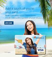 icici bank expressions personalized credit cards add personal