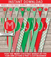 merry christmas banner christmas banner template merry christmas banner editable bunting