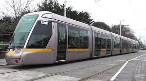 luas tram number 5001 milltown station dublin youtube