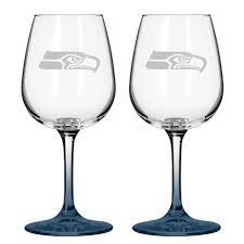 Seattle Seahawks Toaster Nfl Seattle Seahawks 2 Pack Wine Glasses Shopko