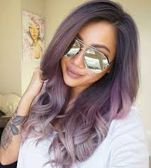 hombre style hair color for 46 year old women dusty purple into dusty silver hair color purple and silver ombre