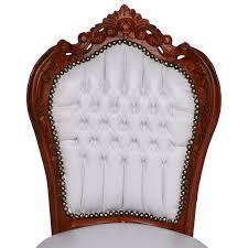 Esszimmerst Le Sale Esstisch 6 Stühle Barock Esszimmer Möbel Set Mahagoni Bezug