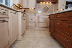 kitchen floor creame stone tile kitchen floors beige distressed