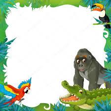 safari cartoon cartoon safari frame border u2014 stock photo agaes8080 28328859