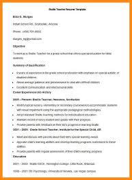 Resume For Fresher Teacher Job by Resume Sample For Teachers Freshers Templates
