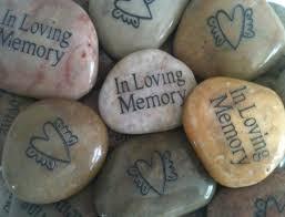 memory stones for funeral memorial favor gift for celebration